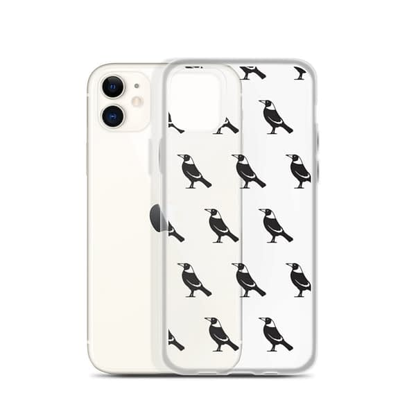 iPhone case with magpies on it